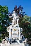 Statue of Wolfgang Amdeus Mozart Stock Photos