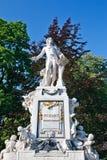 Statue of Wolfgang Amdeus Mozart. In Burggarten, Vienna Stock Photos