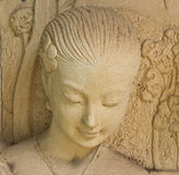 Statue of a woman. In ancient Thai literature. Royalty Free Stock Photo