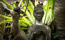Statue of woman in Bali Indonesia stock image