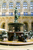 Statue of the woman, fountain. Image of the statue of the woman, fountain Stock Images