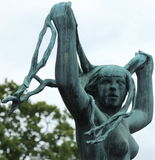 Statue Woman, Frogner Park, Oslo Royalty Free Stock Image