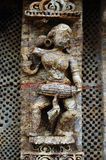 STATUE OF A WOMAN AT KONARK TEMPLE OF ORISSA-INDIA Stock Image