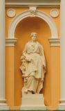 Statue of a woman. Lviv Ukraine royalty free stock photos