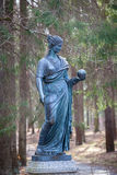 Statue of a woman in Pavlovsk park Stock Images