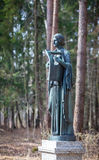 Statue of a woman in Pavlovsk park Royalty Free Stock Photo