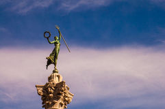 Statue Of Woman with pitchfork Royalty Free Stock Photos