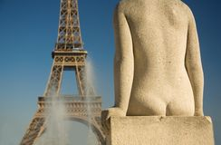 Statue of woman at Trocadero Royalty Free Stock Photo
