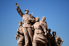 Statue of workers royalty free stock images