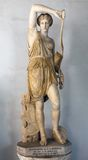 Statue of Wounded Amazon. Wounded Amazon. Roman copy of Greek original by Phidias with head a replica from Polykleitos from 440-430 BCE Marble Royalty Free Stock Photography