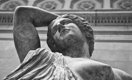 Statue of a wounded Amazon Royalty Free Stock Image