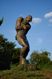 Statue of a wounded soldier, Kiev Stock Photos
