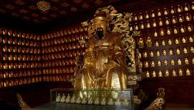 Statue of Xuanzang. Great Wild Goose Pagoda, Xian (Sian, Xi'an), China Stock Image