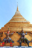 Statue of Yaksa on guard at the Temple of the Emerald Buddha Royalty Free Stock Photography