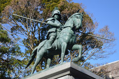 Statue of Yamauchi Kazutoyo. Statue of Yamauchi Katsutoyo, Japan. Photo taken Dec 2014 Royalty Free Stock Image