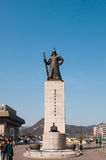 The statue of Yi Sun-Shin outside of Gyeongbokgung Palace Stock Photos
