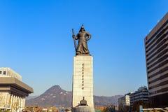 The statue of Yi Sun-Shin Stock Photos