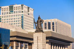 The statue of Yi Sun-Shin Stock Images