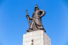 The statue of Yi Sun-Shin Stock Image