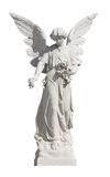 Statue of a young angel isolated on white Stock Photos