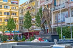 Statue of Zahir Pajaziti in Pristina Royalty Free Stock Images