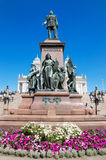 Statue of zar Alexander II on June 22, 2013 in Helsinki, Finland. Stock Images