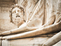 Statue of Zeus. Architectural detail of the statue of Zeus in Piazza Venezia, Rome, Ialy Royalty Free Stock Photography