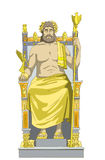 Statue of Zeus Isolated on white Background Royalty Free Stock Photos