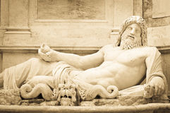 Statue of Zeus. In Rome, Italy Stock Photos
