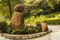 The statue in the Zhongshan Park in Shenzhen, China Stock Image