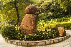 The statue in the Zhongshan Park in Shenzhen, China Royalty Free Stock Photography