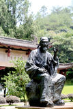The statue of Zhuxi in Wuyi mountain Stock Photos
