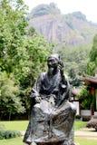 The statue of Zhuxi in Wuyi mountain Royalty Free Stock Photos