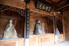 The statue of Zhuxi in Wuyi mountain Royalty Free Stock Images