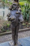 Statue Of The Zookeeper At Artis Amsterdam The Netherlands 2018.  stock images