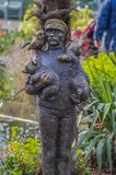Statue Of The Zookeeper At Artis Amsterdam The Netherlands 2018.  stock photo