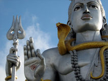 Statueabschluß des Lords Shiva oben Stockfoto