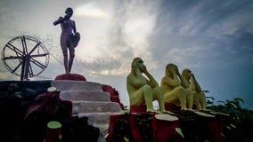 Statuecof Mahatma Gandhi fotografia stock libera da diritti