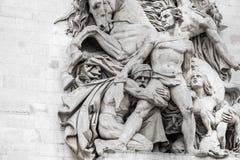 Statuen auf Arc de Triomphe lizenzfreie stockfotos