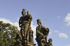 Statuen auf Charles-Brücke Stockbild