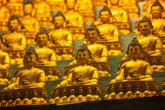 Statuen Buddhas Sakyamuni Stockfoto