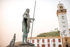 Statuen der guanches Stockbild