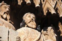 Statuen der Kathedrale Tarragona, Katalonien, Spanien Stockfoto