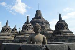 Statuen des 9. Jahrhunderts bei Borobudur Lizenzfreie Stockfotografie