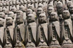 Statuen des japanischen Mönchs Jizo Lizenzfreies Stockbild