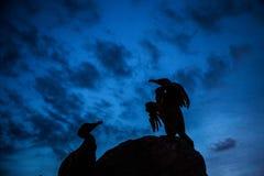 Statuen eines fahren schöne Vogels auf dem Morecambe die Küste entlang stockbilder
