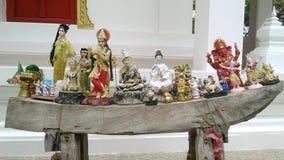 Statuen für votive Abzahlung Stockbilder