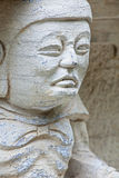 Statuen geschnitzt in Stein-Guilin China Stockbild