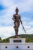 Statuen-großen Königs von Thailand in Rajabhakti-Park lizenzfreie stockbilder