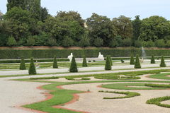 Statuen im Belvederegarten-Garten Wien Lizenzfreies Stockfoto